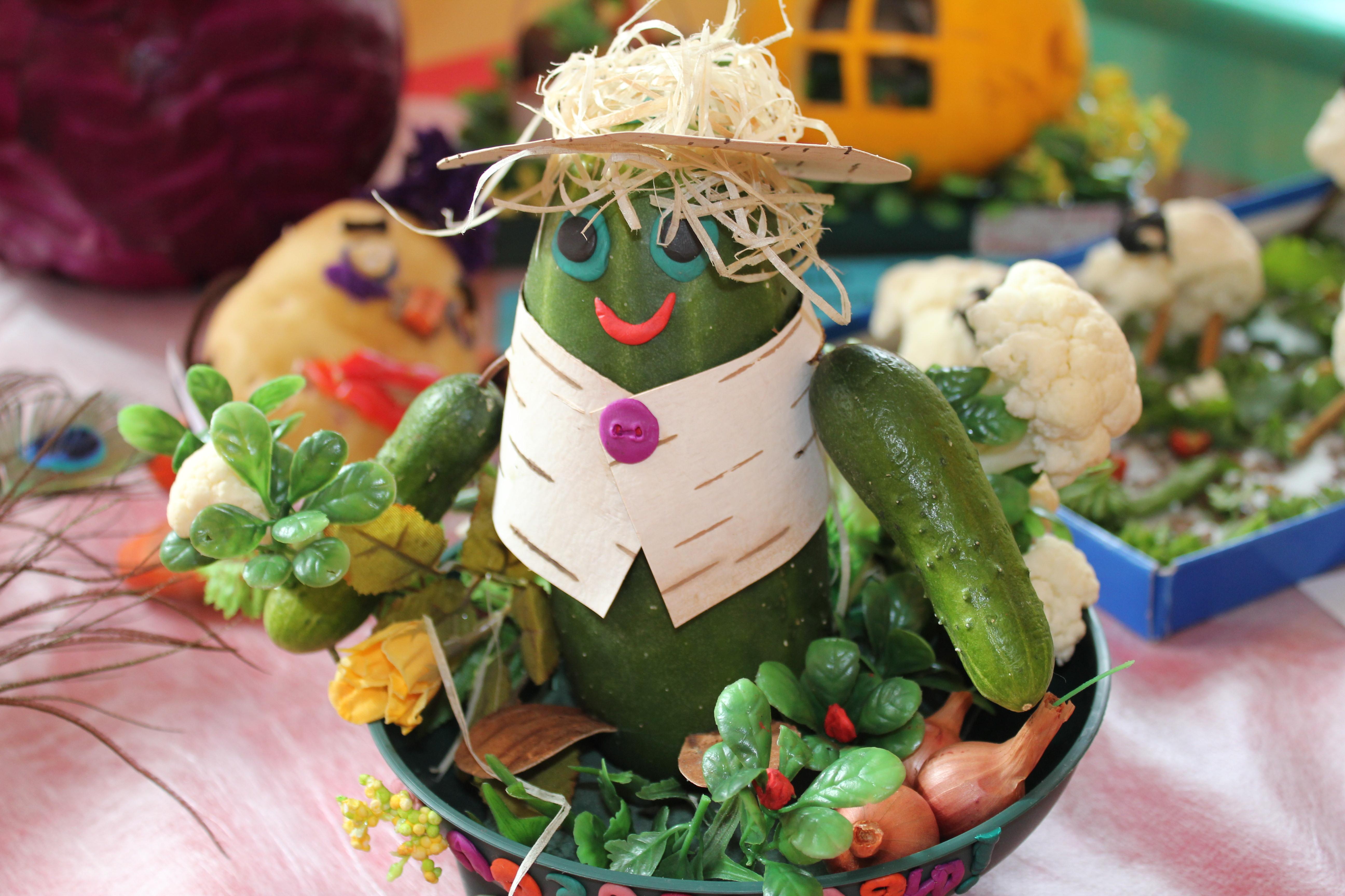 Об осенних поделках из овощей